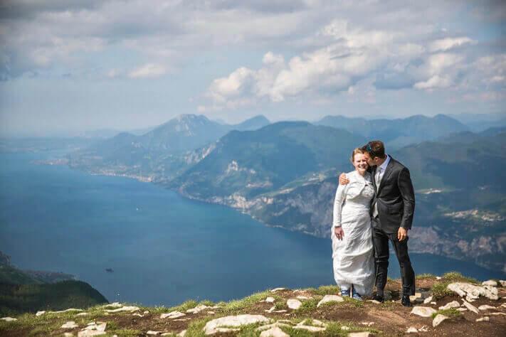 Wedding on Monte Baldo, Malcesine.