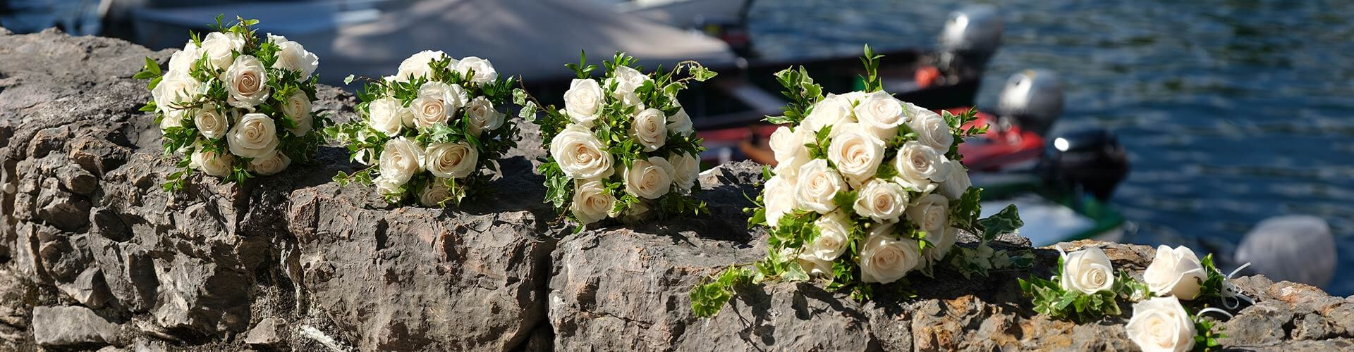 Wedding flowers in Lake Garda